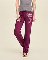Бордовые спортивные штаны Hollister, фото 1