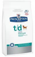 Hill's PD Canine T/D для здоровья ротовой полости собак 10 кг