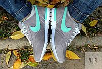 Кроссовки Nike серые с мятной вставкой