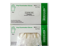 Перчатки смотровые виниловые (нестерильные, не текстурированные, без пудры)(S,M,L)