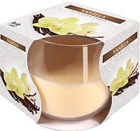Свеча ароматическая в стекле Bispol Ваниль 7 см (sn71-67)