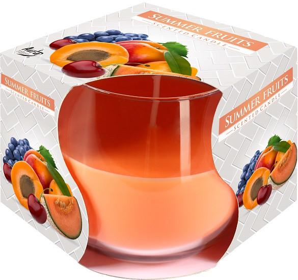 Свеча ароматическая в стекле Bispol Фрукты 7 см (sn71-71)