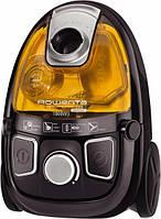 Пылесос без мешка Rowenta RO 5396 21 1900/370 Вт, черный/желтый, регулятор на корпусе, НЕРА10, мини турбощетка