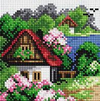 """Алмазная мозаика """"Летний домик"""" (15*15см)"""