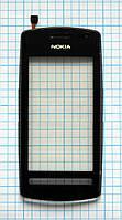 Тачскрин сенсорное стекло для Nokia 600 Asha with frame black