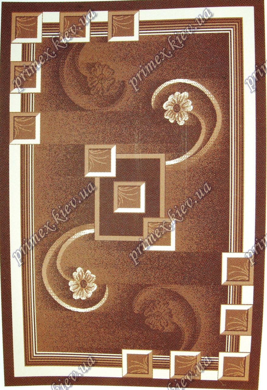 """Рельефный ковер Кадиллак """"Елизавета"""", цвет коричневый"""