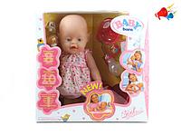 Детские игрушки, куклы для девочек. Кукла Беби Бон 800058-5. Кукла беби борн. Игра дочки-матери, +звуки +слезы