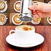 Трафареты для кофе( 16 шт. ) + Ёмкость для какао/корицы/шоколада/др. с ситом (шейкер), фото 6