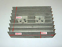 Радиатор алюминиевый 100Х72Х30