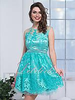 Вечернее платье с пышной юбкой Виолет мятное, фото 1