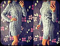 """Женская стильная туника-свитер с резрезами """"Коса"""" (6 цветов)"""