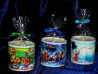 Декоративная свеча с полиграфическим изображением
