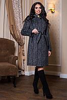 Женское теплое шерстяное пальто р. 44-56 арт. 811 Тон 12
