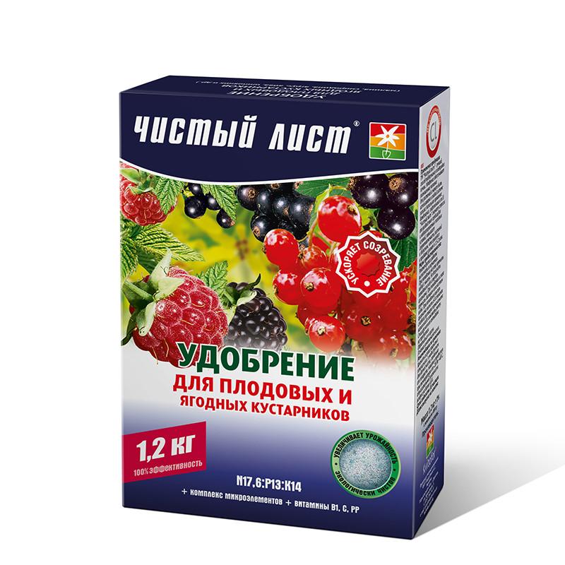 Кристалічне добриво «Чистий лист» для плодових та ягідних чагарників 1.2 кг