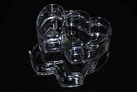 Контейнер для косметики и бижутерии двойной в форме сердца YRE SF-2134