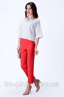 Костюмні штани червоного кольору Етно