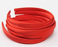 Основа для ободка (ободок) пластиковый атласный Красный 1.5 см 6 шт/уп