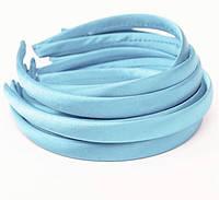 Основа для ободка (ободок) пластиковый атласный Голубой 1.5 см 6 шт/уп