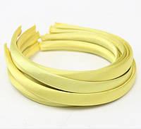 Основа для ободка (ободок) пластиковый атласный Желтый 1.5 cм 5 шт/уп