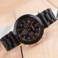 Классические черные женские часы