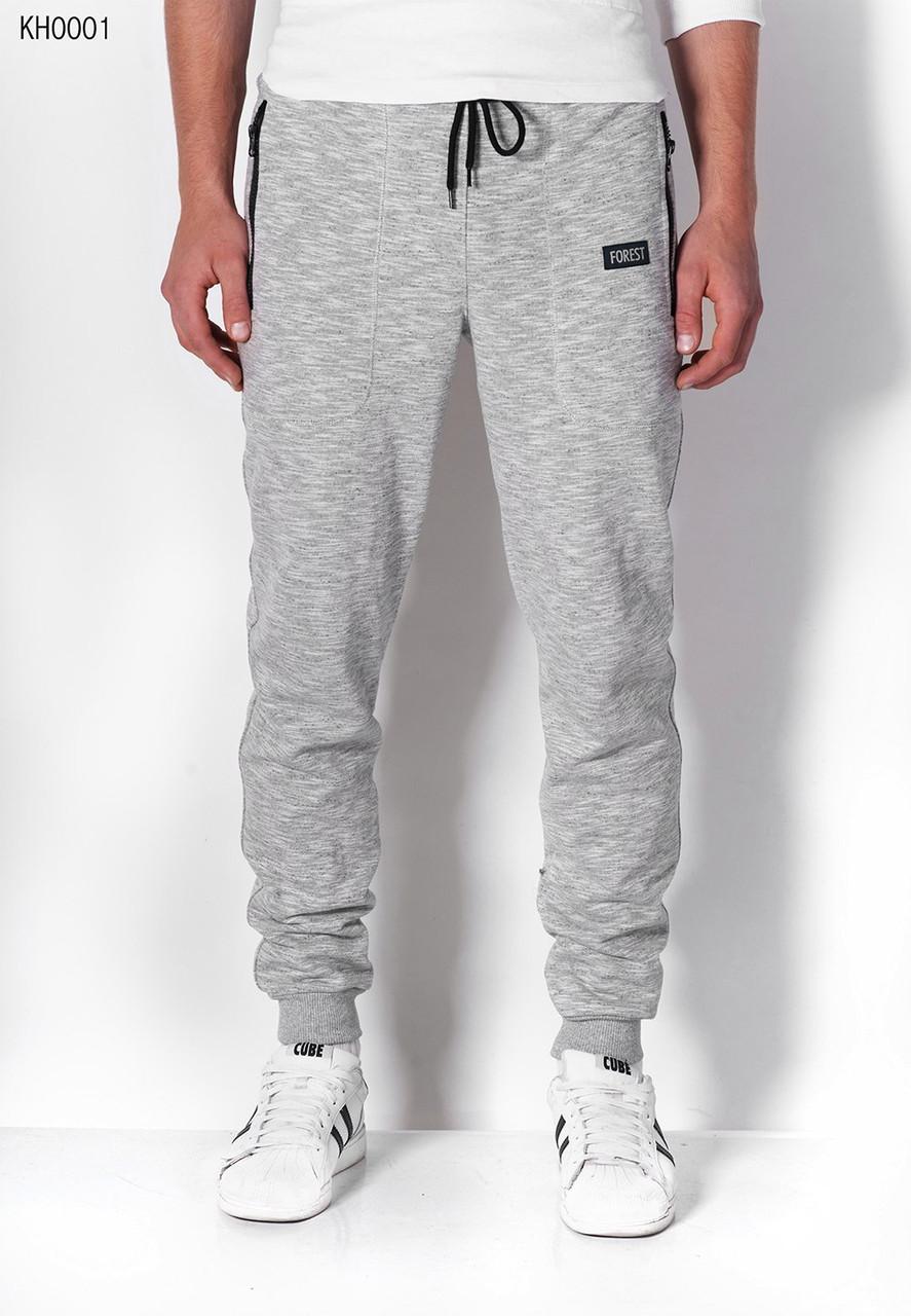 23d9027b Мужские серые спортивные штаны Forest gray KH0001 - интернет-магазин