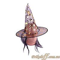 Шляпа Ведьмы с волосами, органза
