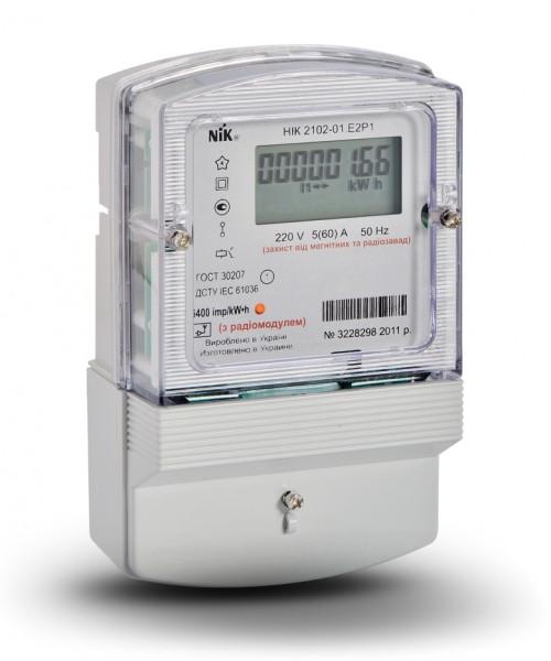 Электросчетчик NIK 2102-01 Е2Р с радиомодулем (ZigBee) однофазный нетарифный