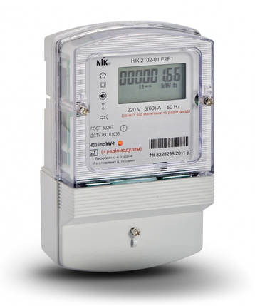 Электросчетчик NIK 2102-01 Е2Р с радиомодулем (ZigBee) однофазный нетарифный, фото 2