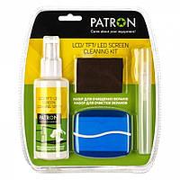 Набор чистящий Patron, для TFT/LCD: спрей 125 мл, спрей 10 мл, щетка (F4-010)