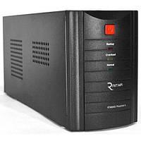 ИБП Ritar RTM600 (360W) Proxima-L, LED, AVR, 4st, 2xSCHUKO socket, 1x12V7Ah, metal Case (305х85х140)