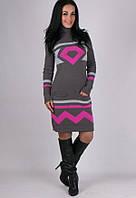 Вязаное длинное платье - Диамант