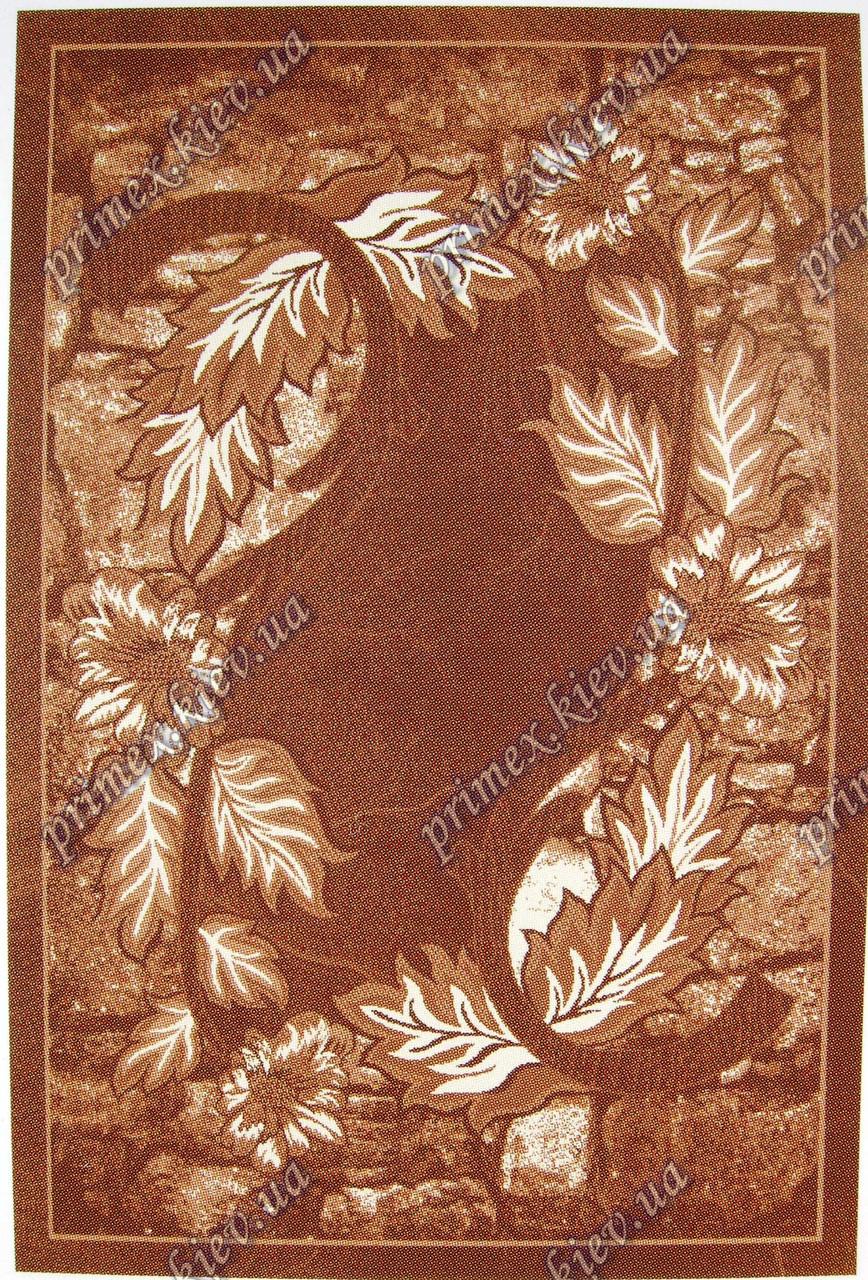 """Рельефный ковер Кадиллак """"Юлия"""", цвет коричневый"""