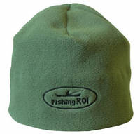 """Шапка-флис """"Fishing ROI"""" с логотипом олива (57-59 р-р)"""