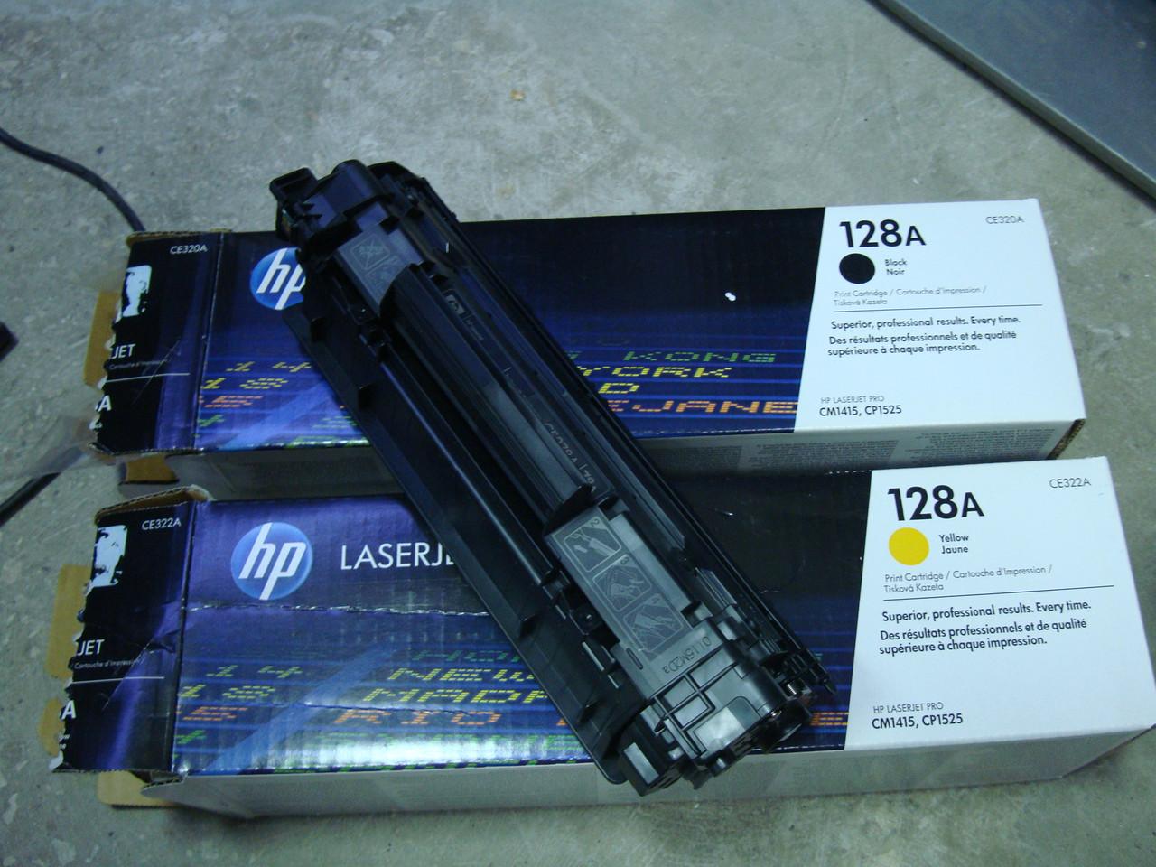 Пустой картридж HP 128A 78A Оригинал желтый и черный, фото 1