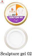 Гель-пластелин F.O.X Sculpture gel 002, 5 ml для 3D-лепки белый