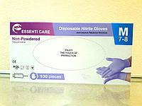 Перчатки нитриловые без пудры Essenti Care упаковка 100шт