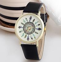 Черные женские наручные часы Geneva