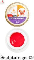 Гель-пластелин F.O.X Sculpture gel 009, 5 ml для 3D-лепки красный
