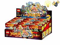 Детский тематический конструктор Ninja SX3001. Конструктор Loho 3001, 12 шт в коробке, +свет, на батарейках