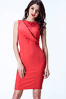 Сукня з вишивкою червона Етно Pink