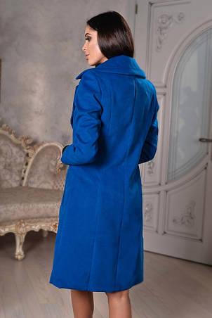 Женское пальто на запах с поясом , фото 2