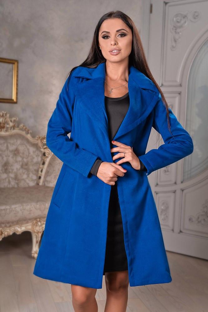 Женское пальто на запах с поясом