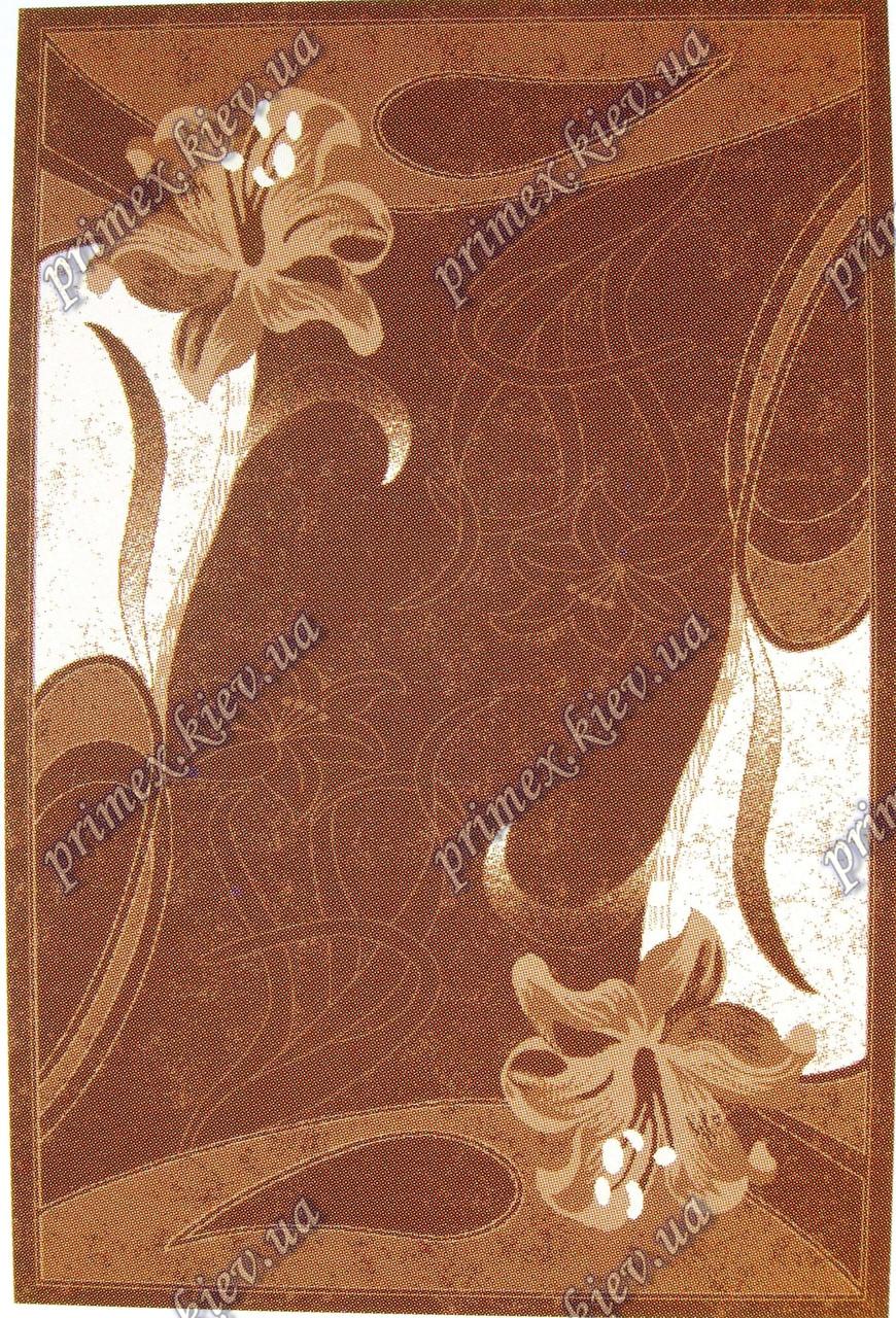 """Рельефный ковер Кадиллак """"Лилия"""", цвет коричневый"""