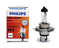 """Автомобильная галогенная лампа """"PHILIPS"""" (H4)(RALLY)(12V)(100/90W)"""