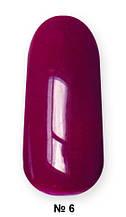 Гель -лак №6 UV Gel-Lacguer SOFIA 8.6 мл США (глубокий вишнево красный)