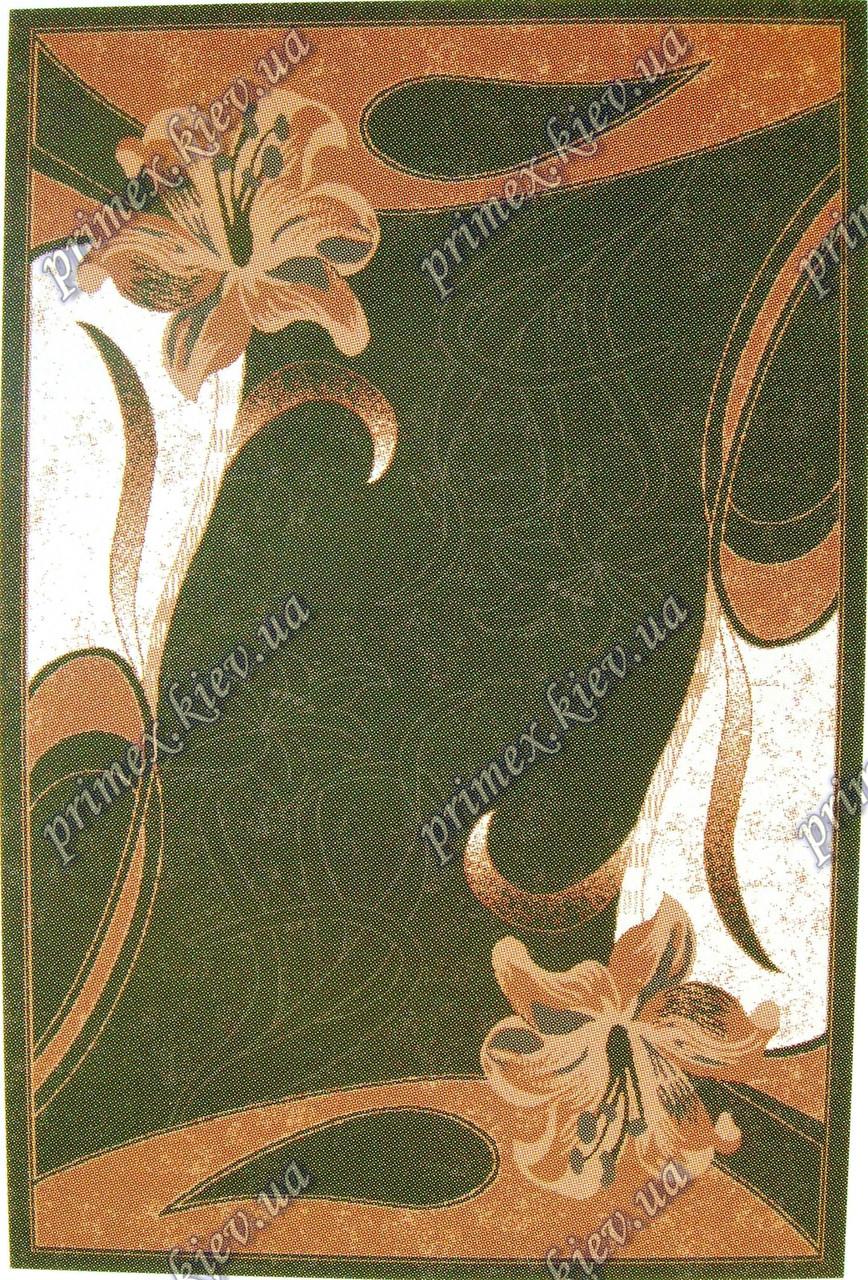"""Рельефный ковер Кадиллак """"Лилия"""", цвет зеленый"""
