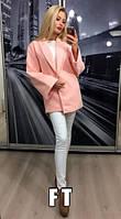 Женское пальто кашемир на подкладке застежка потайная кнопка