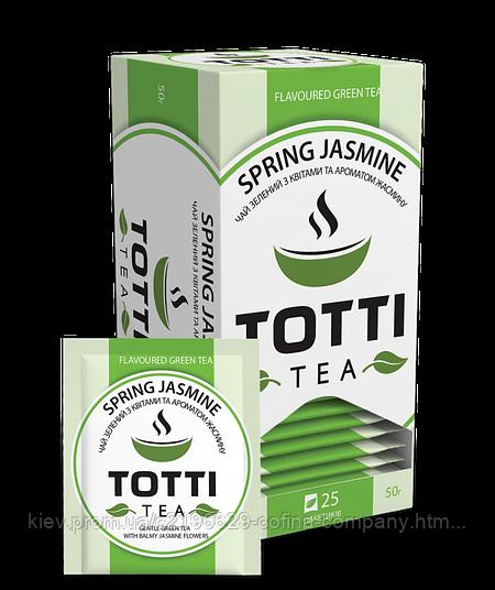 """Чай зеленый TОТТІ Tea """"Весенний Жасмин"""", 25 пак."""