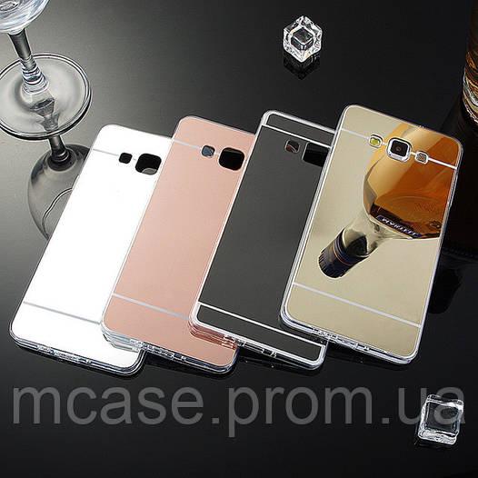 Силиконовая накладка с зеркальным напылением для Samsung Galaxy A7