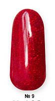 Гель -лак №9 UV Gel-Lacguer SOFIA 8.6 мл США (насыщенный красный с мелким глиттером)